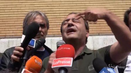 """Mimmo Lucano alla Sapienza: """"Siamo l'onda rossa, fermeremo l'onda nera che ci oscura"""""""