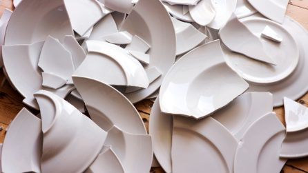 How to reuse the broken plates: the result is fantastic