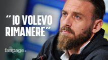 """Daniele De Rossi sull'addio alla Roma: """"Il club ha scelto. Avrei rinnovato ma non hanno voluto"""""""