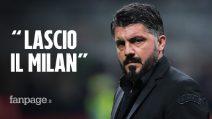 """Gennaro Gattuso lascia il Milan: """"Mi dispiace moltissimo ma dovevo farlo"""""""