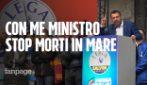 """Salvini a Milano: """"Finché sarò ministro le navi delle ONG complici di scafisti non sbarcano"""""""