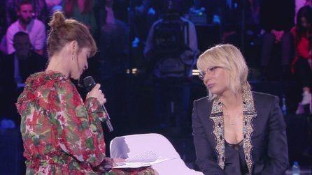 """Alessandra Amoroso commuove Maria De Filippi: """"Hai asciugato le mie lacrime"""""""
