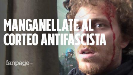 Bologna: comizio di Forza Nuova, la polizia carica il corteo antifascista