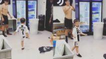 Segue le orme del padre fin da piccolo: il figlio di Pjanić gioca con Dybala e Kean