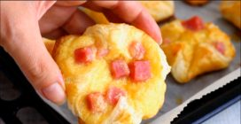 Ham and Cheese Puff Pastry Pockets: perfect for breakfast or as a snack