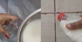 Versa tutto in una bottiglia e pulisce le mattonelle: il detergente naturale ed efficace