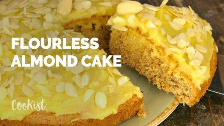 Flourless almond cake: soft, moist crumb and gluten free!