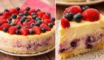 Cheesecake fragole e mirtilli: un dolce cremoso e fresco per l'estate!