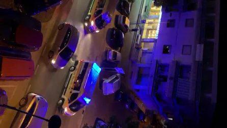 Capaccio-Paestum, corteo di ambulanze per festeggiare l'elezione del sindaco Alfieri