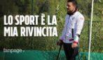 """Alessio ha perso la gamba in un incidente stradale: """"La mia rivincita allenare una squadra di calcio"""""""