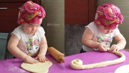 The sweetest cook ever: so young but already a pro