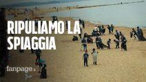Save the planet: 200 bambini ripuliscono una spiaggia dalla plastica