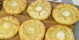 Girasoli di ananas: l'idea facile con la pasta sfoglia pronta in 15 minuti!