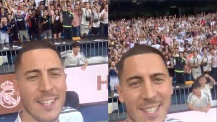 Eden Hazard fa un regalo a tutti i suoi fan: il video dal Bernabeu