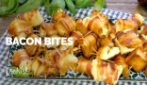 Bacon bites with a creamy filling; easy, quick and delicious!