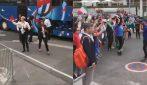 Le azzurre battono la Giamaica: la calorosa accoglienza dei fan