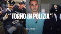 """Milano, l'agente Varacalli torna in polizia dopo l'amputazione di una gamba: """"Grande traguardo"""""""