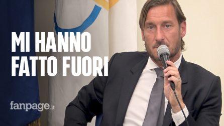 """Francesco Totti, addio alla Roma. Conferenza stampa: """"Hanno allontanato i romanisti dalla squadra"""""""