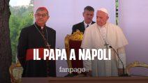 """Papa Francesco a Napoli, i fedeli: """"Riporti la Chiesa più vicina a quello che voleva Cristo"""""""
