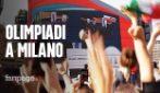 Le Olimpiadi invernali 2026 saranno a Milano e Cortina: l'esultanza davanti ai maxischermi