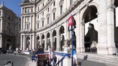 Roma, ha riaperto la fermata della metro di Repubblica dopo 8 mesi