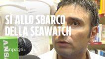 """Sea Watch, Di Battista (M5S): """"Sì allo sbarco dei migranti"""". E si innervosisce con i cronisti"""