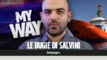 """Roberto Saviano: """"Salvini scappa dai suoi processi mentre Carola si fa arrestare per salvare vite"""""""