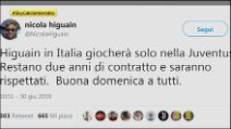"""Calciomercato, agente Higuain: """"Gonzalo in Italia solo alla Juve"""""""