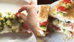 Millefoglie salata con zucchine e pomodori: ideale per un pranzo o cena veloci