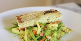 Cod fish with veggies stir fry: an amazing meal to make easily