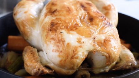 The method to make a tasty and juicy roasted whole chicken