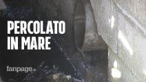 """Castellammare, la denuncia dei cittadini: """"Il percolato dei tir carichi di rifiuti finisce in mare"""""""