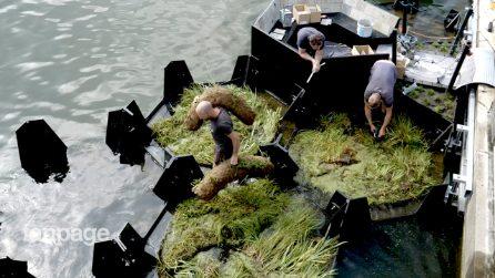 Costruiscono un parco galleggiante con la plastica raccolta dal fiume. L'idea viene dall'Olanda
