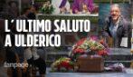 Napoli, i funerali di Ulderico Esposito, il tabaccaio colpito al volto da un giovane nigeriano
