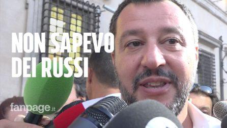"""Fondi russi, Salvini: """"Mai preso un euro. Non sapevo cosa faceva Savoini"""""""