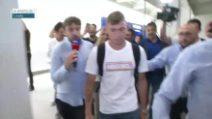 Calciomercato Inter, Nicolò Barella è arrivato a Milano: l'accoglienza dei tifosi