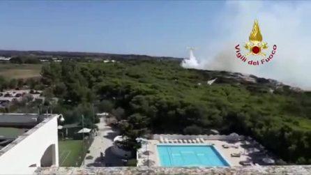 Gallipoli, incendio a Punta Pizzo: trovato il corpo di un uomo carbonizzato