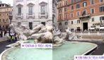 Assalto alla Fontana di Trevi: l'afflusso eccessivo obbliga i vigili a chiudere l'accesso