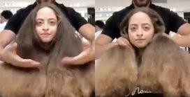 Non taglia i capelli da anni: la trasformazione è fantastica