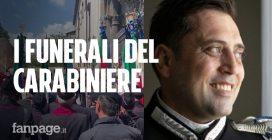 I funerali del carabiniere ucciso a Roma, l'arrivo del feretro a Somma Vesuviana