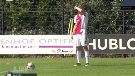 Come calcia le punizione Matthius De Ligt, il nuovo difensore della Juventus