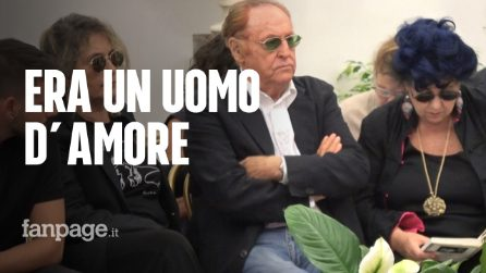 """Morto Luciano De Crescenzo, alla camera ardente Renzo Arbore e Marisa Laurito: """"Grande uomo d'amore"""""""
