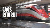 """Caos treni, a Napoli Centrale fino a tre ore di ritardo: """"Dovevo fare un concorso importante"""""""