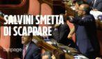 """Moscopoli, Conte in senato tra assenze e proteste. Il Pd: """"Ora sfiducia a Salvini"""""""