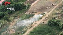 Giugliano: terra dei fuochi. Carabinieri la sorvolano e denunciano proprietari di 32 terreni
