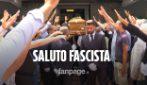 Napoli, saluto fascista ai funerali dell'ex Presidente della Regione Antonio Rastrelli