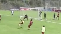 Gol spettacolare in allenamento di Campana: la sua rovesciata è favolosa