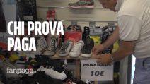 """Dieci euro per provare le scarpe in negozio, il titolare: """"Così mi difendo dall'e-commerce"""""""
