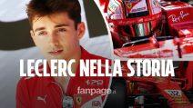 Leclerc riscrive la storia della Ferrari: è il più giovane a vincere un GP al volante della Rossa