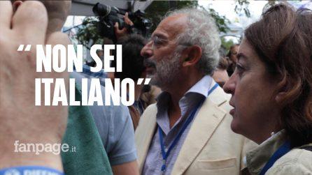 """Pontida, il popolo della Lega insulta Gad Lerner all'arrivo: """"Buffone, ebreo, non sei italiano"""""""